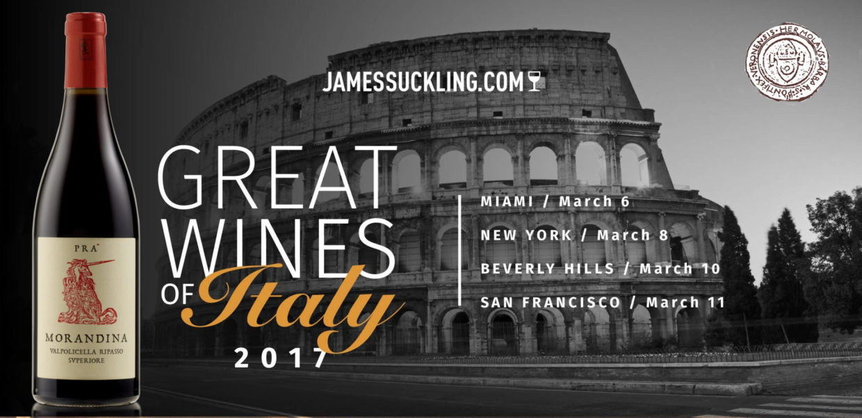 GREAT WINES OF ITALY – JAMES SUCKLING TOUR